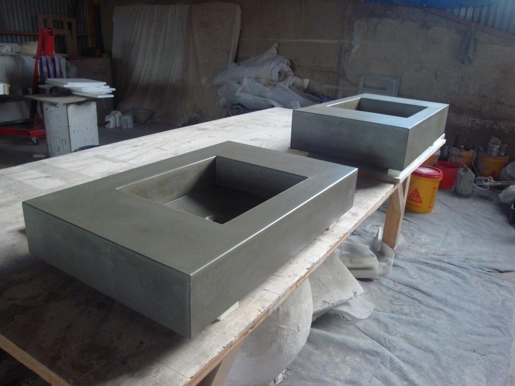 Bathroom Vanities Dunedin New Zealand home - flowing stone concrete design