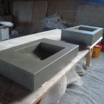 New concrete vanities ready for delivery