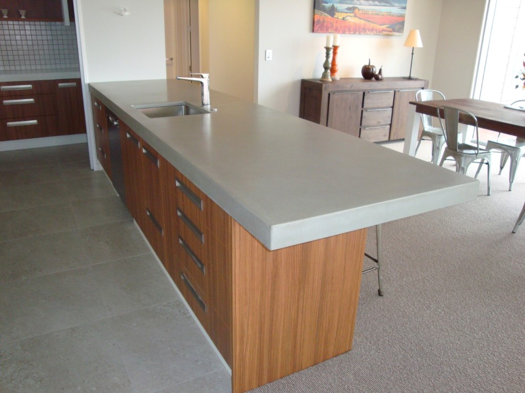 Concrete Benchtops Unique Kitchen Benchtops Flowing Stone